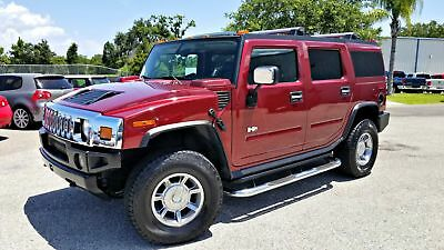 2005 HUMMER H2 4x4  BLACK LEATHER SUV LOW MILES 2005 Burgundy SUV LOW MILES!