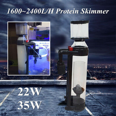 1600~2400L/H Aquarium Fish Tank Protein Separator Skimmer Pump Filter Salt Water