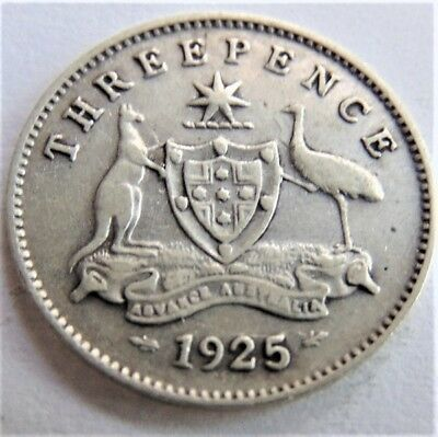 1925 GEORGE V, THREEPENCE, grading FINE.