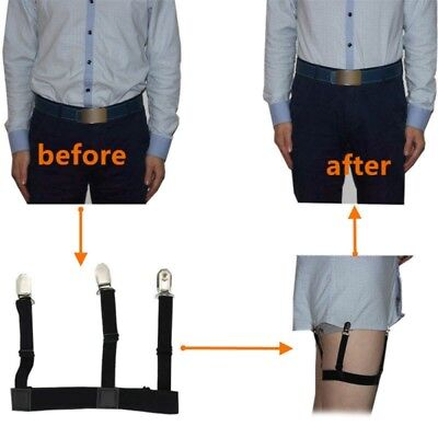 Shirt Stays Holder Elastic Garter Belt Suspender Locking Clamp for Men and Women