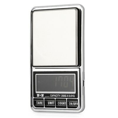 200g 0.01 DIGITAL ELECTRONIC POCKET JEWELLERY SCALES 10 milligram Micro-gm Wi6S8