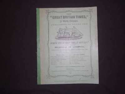 """The """"Great Britain Times,"""" A Weekly N, , 1111, s.s. Great, Accept"""