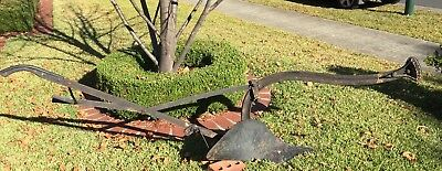 Single Furrow Plough Antique Garden Art