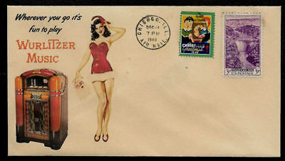 1940 Wurlitzer Juke Box Ad Featured on Xmas Collector's Envelope *XS107