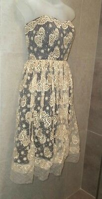 Alannah Hill $469 I Have an Assistant Frock Dress Vintage Embroidered Lace 8