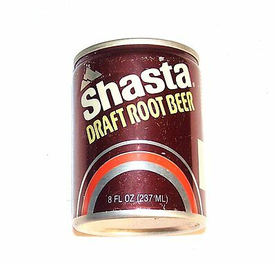 Vintage Shasta Root Beer 8oz Mini Tab Top Soda Pop Can 1/1+ Flat Sign Beer Ofr