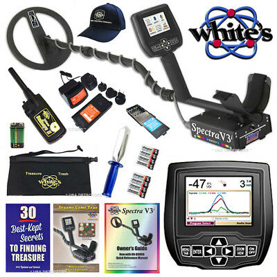 WHITES SPECTRA V3i Metal Detector With  Bullseye ll, Pouch Digger & MORE !
