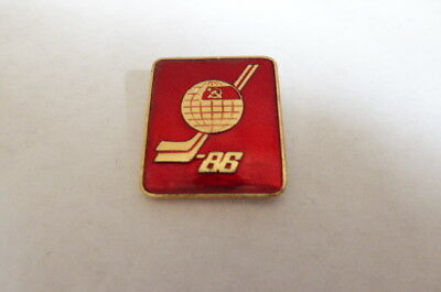 1986 Ussr Russia Ice Hockey World Championship Moscow Pin Badge