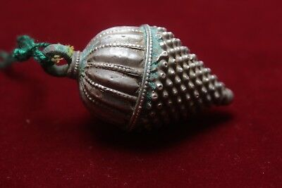 Rare Old Vintage Tribal  Goddess South Indian Solid Silver Amulet Pendant B 04