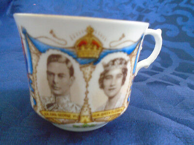 King George VI teacup and saucer commemorating his visit to Canada in 1939