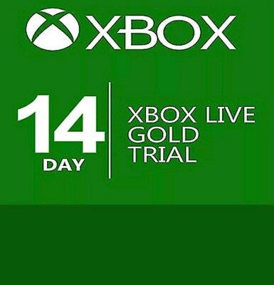 14 Days Xbox Live Membership Code Pass -2 Weeks Microsoft Xbox One/360--Instant