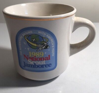 Vintage Boy Scouts 1989 National Jamboree Coffee Mug Cup BSA