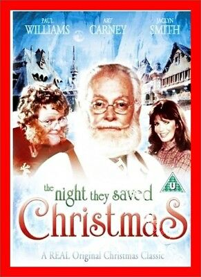 THE NIGHT THEY SAVED CHRISTMAS (1984) Region 1 (USA) DVD Art Carney Jaclyn Smith