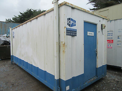 20ft x 9ft SITE CABIN SITE OFFICE PORTABLE BUILDING ANTI VANDAL 2250 + VAT OFFER