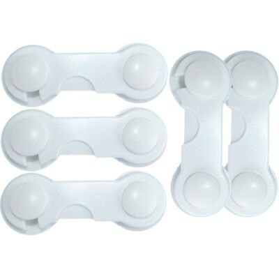 5 Pcs Baby Drawer Lock Children Security Protection For Cabinet Toddler Child W7