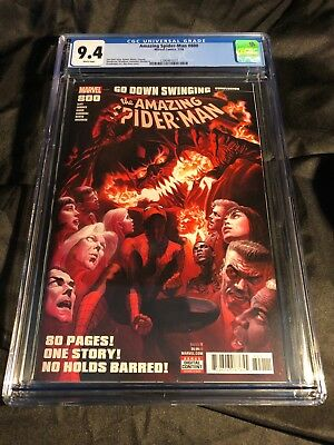 Amazing Spider-Man Vol 4 #800 Cover A 1st Ptg Regular Alex Ross Cover CGC 9.4 NM