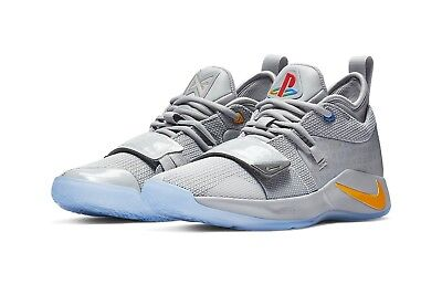 fe4be2b00935 NIKE PG 2.5 PlayStation Paul George PS4 Classic Wolf Grey Mens ...