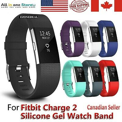 For Fitbit Charge 2 Replacement Sports Band Strap Silicone Wrist Watch Bands CA