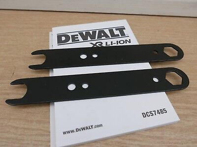 Pair Of Dewalt Spanners Wrenches For Dcs7485 54V Table Saw Part N436199