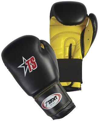 T-Sport Action Sports Fighting Punch Bag Mitts PU Boxing Gloves Black/Yellow