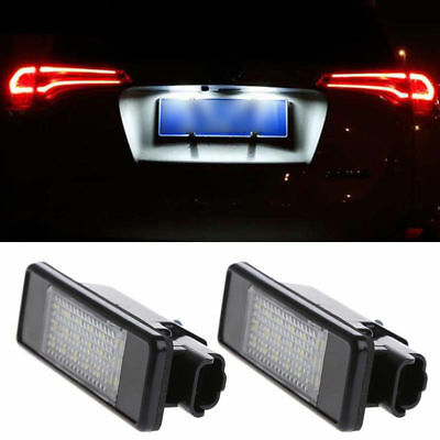 2x LED Licence Number Plate Light Peugeot 106 1007 307 308 3008 406 407 508 607