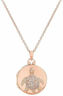 Guiliana Rose Gold Tone Sea Turtle Locket Necklace Rose gold tone