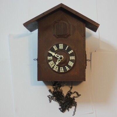 Vintage 8 day  Hubert Herr, German Black Forest Cuckoo Clock, Parts / Project