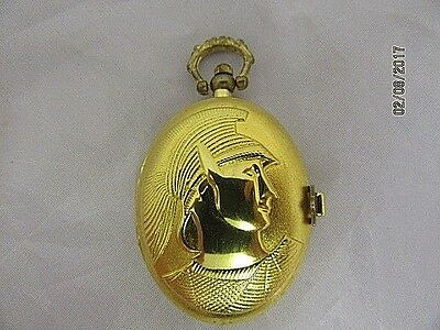Pocket Watch Gold Plated Decorated Full Hunter Quartz  Working Order Ideal Gift