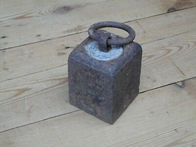 Vintage Cast Iron 7lb Weight With Lifting Ring Door Stop Kitchenalia F
