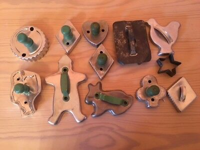 Vintage Cookie Cutters Tin Aluminum Cookie Cutters Lot Of 12