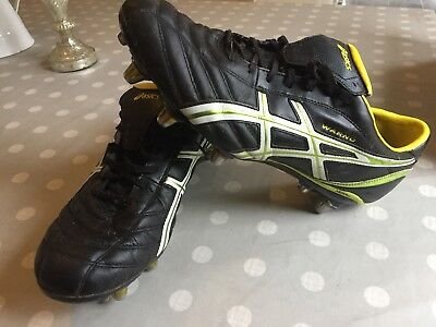 Asics ST UK Size 13 football or rugby boots A1 condition Worn Twice
