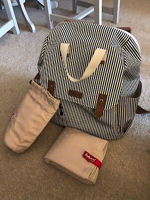 Babymel Backpack Baby Changing Bag In Excellent Used Condition