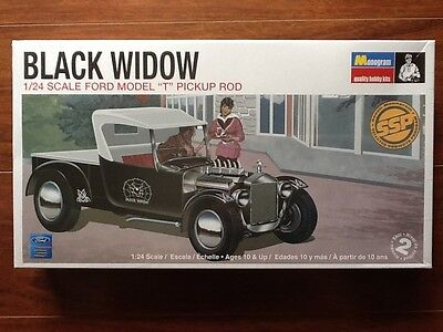 """Revell 1/24 Black Widow Ford Model """" T """" Pick Up Rod Kit # 0060 Factory Sealed"""