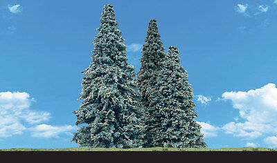 """Woodland Scenics N, HO, or O Blue Needle Pine Trees 3.5-5.5"""" 4 Pack # TR3569 F/S"""