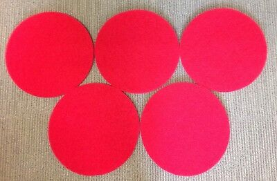 "Red 17"" Maxima Floor Maintenance Pads Box of 5"
