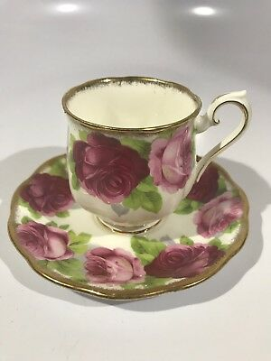 Royal Albert Bone China England Old English Rose Tea Cup and Saucer