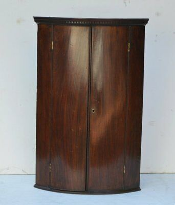 Antique George III Mahogany Hanging Corner Cupboard, Ca. 1790