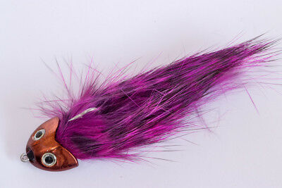 Bullheads in natural colors Fliegentom Streamer Range of 3 Grizzly Sculpins