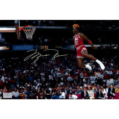 Michael Jordan Flying Dunks Basketball Art Fabric Print Poster 12x18 24x36 inch