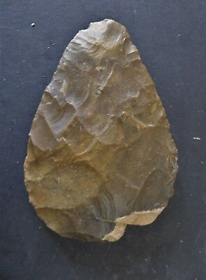 Superb Large Flint Mousterian Or Neandertal Handaxe From France