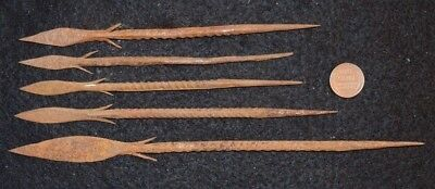 5 iron spear point, Bura culture 200 - 600 years old