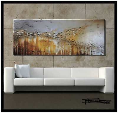 ABSTRACT Painting MODERN Canvas Wall Art Large Signed Framed US ELOISExxx