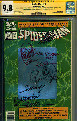 Spider-Man #26 Cgc 9.8 Six Signatures-Autographed By Stan Lee Plus 5-2Sketches!