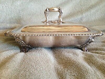 """VTG"""" Silver Plate On Copper"""" 3 Pieces Tureen? Unmarked-"""" @ LOW PRICE """"L@@K"""""""