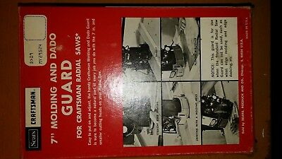 """SEARS CRAFTSMAN 7"""" Molding and Dado Guard for Radial Arm Saws 9-29524"""