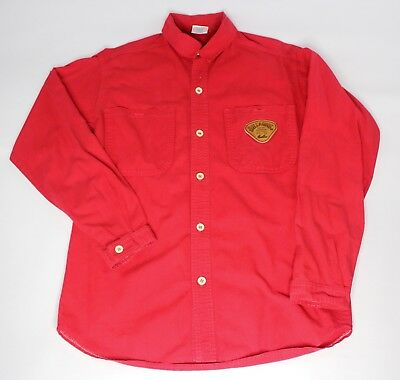Vintage Rare Billabong Heavy Long Sleeve Button Down Shirt Mens Size S-M Red