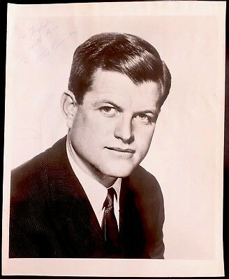 U.s. Political History Collectible Autographed Photograph Senator Ted Kennedy