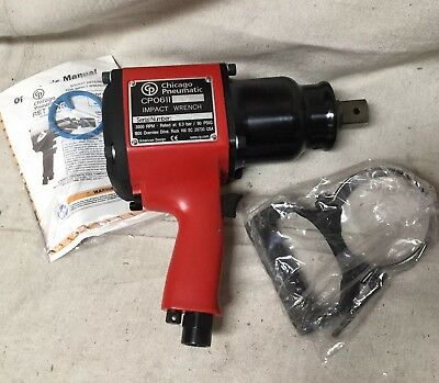 Chicago Pneumatic CP0611P-RS 3,500 RPM 1,020 BPM Square Drive Impact Wrench NEW