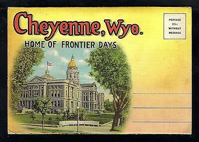 Nmstampsnstuff: Cheyenne Wy - Vintage Fold-Out- 18 Views - Unposted