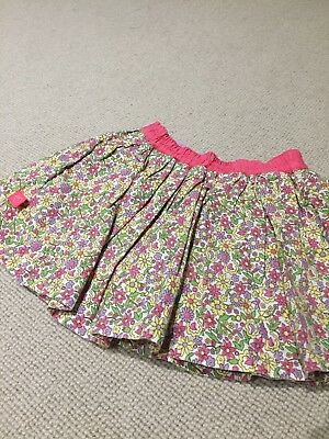 Little Bird Jools Oliver Liberty Floral Print Neon Accent Skirt 12-18 Months